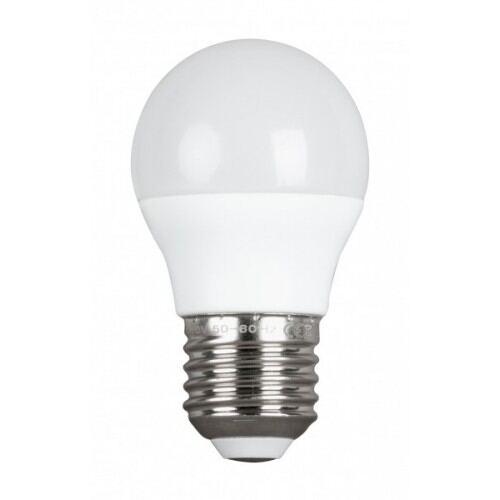 LED pære - krone, varmt lys, 5W, E27, 2700K,