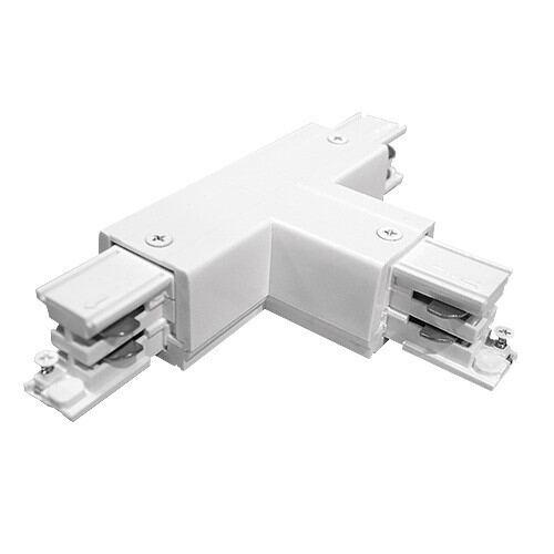 T- stykke connector til Led Track Light skinner, 4 pin, hvid
