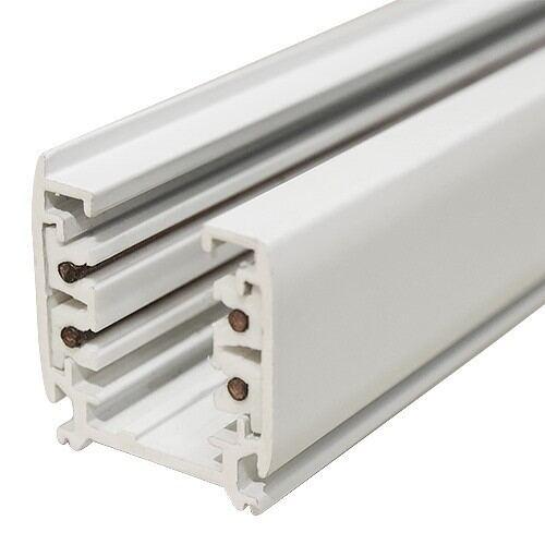 Skinne til Led Track Light, 4 pin, 1m, hvid