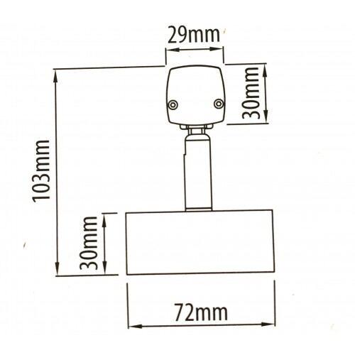 LED BAD/GALLERI LAMPE, 14W, 4200K, KROM, IP44