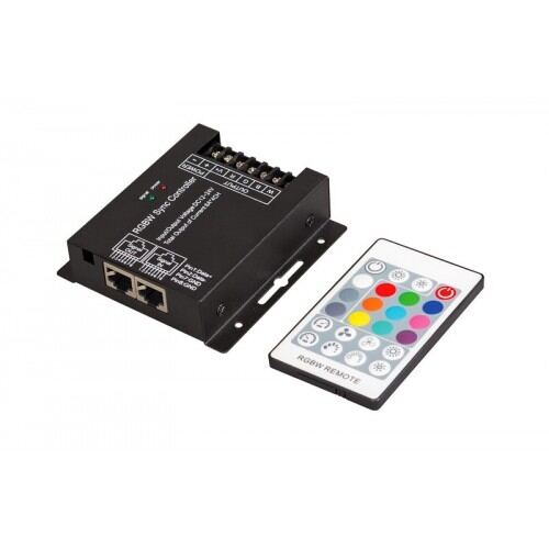 Infrarød Fjernbetjening til RGBW LED Bånd max 288 watt, 24A, 12-24 V DC