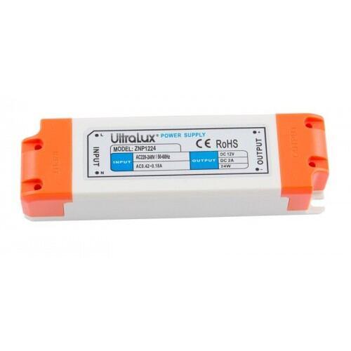 LED-strømforsyning , 12W, 12V DC, ikke-vandtæt, mini