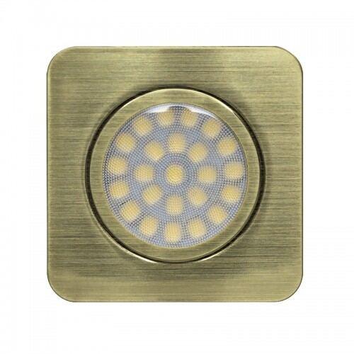 LED møbelspot,12V DC, 3W, 4200K, IP44, firkant