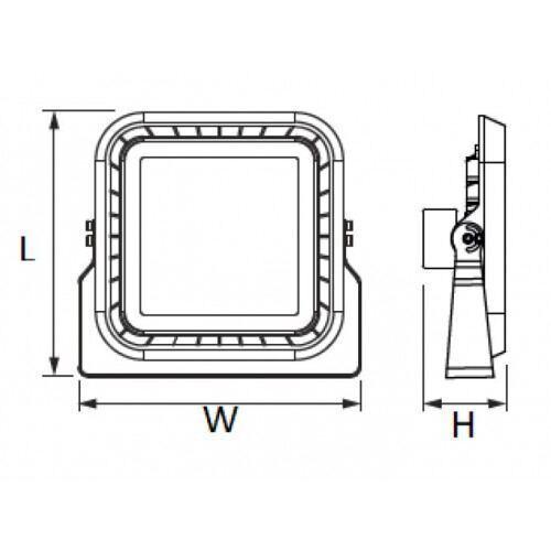 Led professionel projektør, 100W, 5000K, dæmpbar 1-10V DC, 220V-240V AC, IP66
