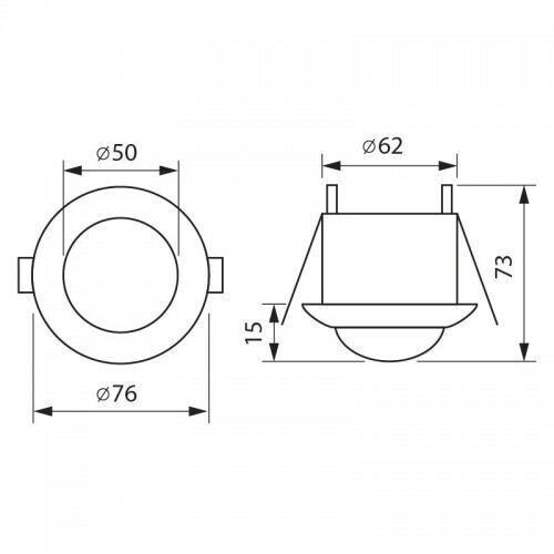 Sensor til indbygning(mikrobølge)