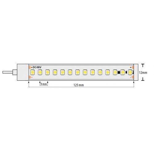 Proff. LED Bånd/Strips, 7 W/m, 5500 K, 48V DC, 112 Led/m, IP67