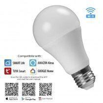 WIFI Smart LED pære, 8W, E27, RGB+4200K, 220-240V