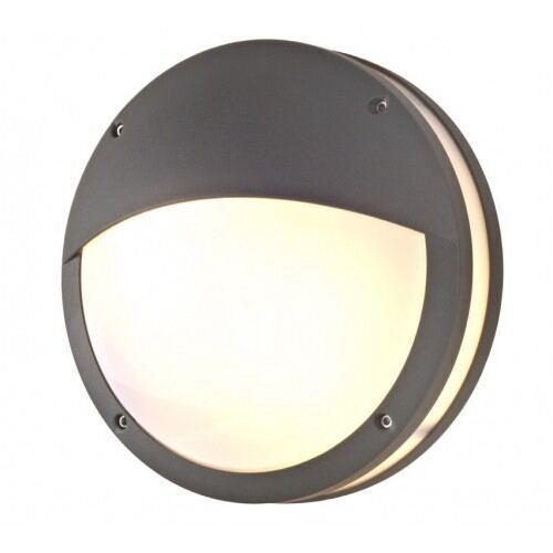 Udendørs væglampe, Е27, IP54, Grafitgrå, Halvmåne