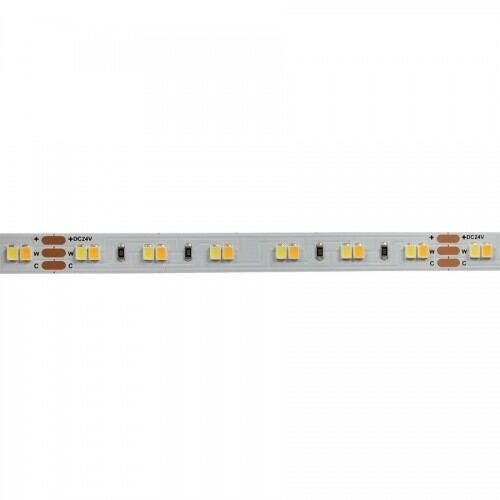 Proff. LED Bånd/Strips, CCT, 18 W/m,  2700 til 6500K, 24V DC, 120 Led/m, IP20, SMD2835