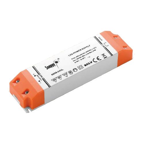 Professionel 24V Dc LED driver, til belysning, anvendes til mindre opgaver, på til 60 watt, kan køb her